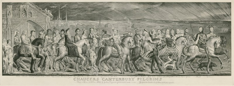 Chaucer's Canterbury Pilgrims by William Blake - The Canterbury Tales - Geoffrey Chaucer