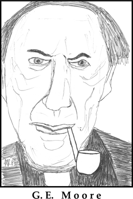 G.E. Moore Sketch by M.R.P. - criticism - radical skepticism, common sense, Moorean shift, Moorean facts