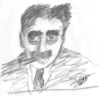 Groucho Marx Sketch by Dusty - Duck Soup - Marx Brothers - Harpo, Chico, Zeppo
