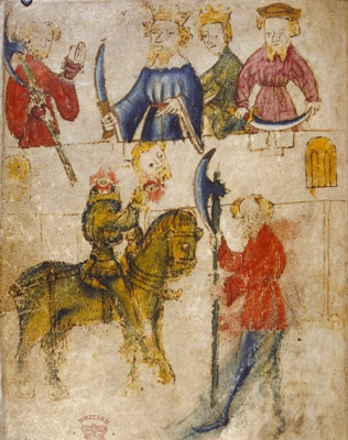 Sir Gawain and the Green Knight Illustration - Medieval, feminism, space, power