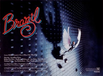 Brazil movie poster - Terry Gilliam - absurd dystopia satire