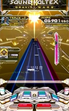 SOUND VOLTEX gameplay screenshot - SOUND VOLTEX III GRAVITY WARS - SDVX - KONAMI - beginner's guide