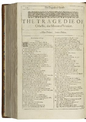 Othello first page - William Shakespeare - Iago, race