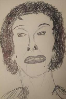 Gloria Swanson Sketch by M.R.P. - Sunest Boulevard - Billy Wilder - narrator