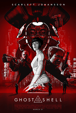Ghost in the Shell movie poster - Rupert Sanders, Scarlett Johansson - white-washing, analysis, anime comparison