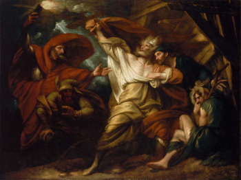 King Lear in the Storm by Benjamin West - William Shakespeare - Act II Scene iv - Act 2 Scene 4 - repetition, meter, speech, analysis
