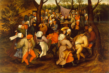 Peasant Wedding Dance by Pieter Brueghel the Younger - current-year argument - Anti-vaxxers and vaccines - logic and argumentation