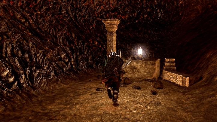 Dark Souls screenshot with items in Demon Ruins - existentialist philosophical analysis of Dark Souls - FromSoftware - existentialism, Jean-Paul Sartre, Albert Camus, Friedrich Nietzsche