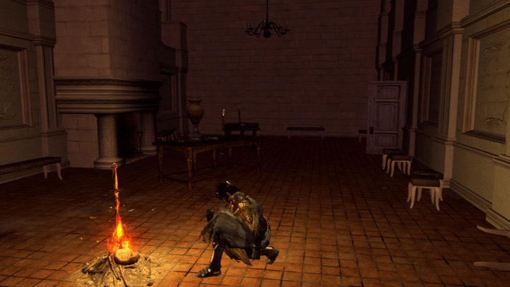 Dark Souls screenshot with Anor Londo bonfire - Infinifactory, Zachtronics - games as art, definition of art