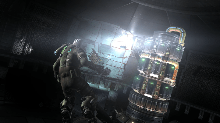Dead Space 2 screenshot with puzzle solved in zero gravity - Visceral Games, comparison, review, analysis