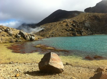 Emerald Lake after passing Mangetepopo Hut.
