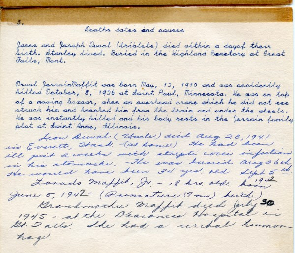 Francis Duane Duval Book, page four022