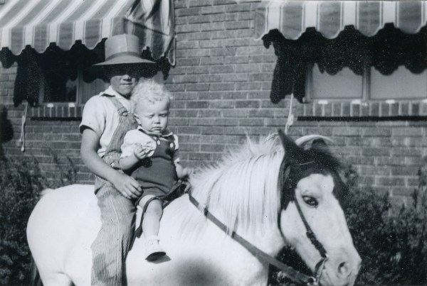 PETERSON, Darrell & Dee on horse