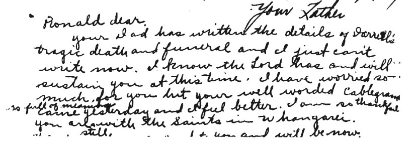 rulon letter to ronald