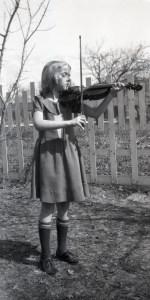 ELLIS, Margaret playing her violin - smaller