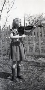 ELLIS, Margaret playing her violin - smaller