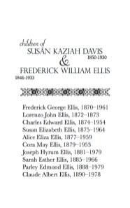 Susan & Frederick Family Group Sheet