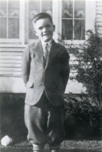PETERSON, Ronald as young boy in knickers
