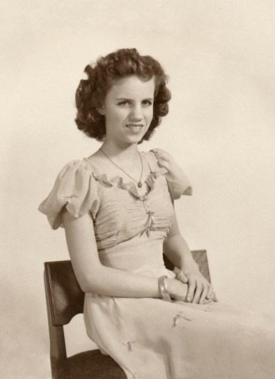 DUVAL, Deane Alice wearing formal dress as teenager- edited