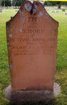 Headstone of Octavia Ann Lane