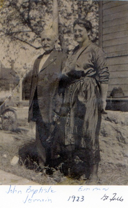 JERRAIN, John Baptiste with daughter Emma, 1923 in Great Falls
