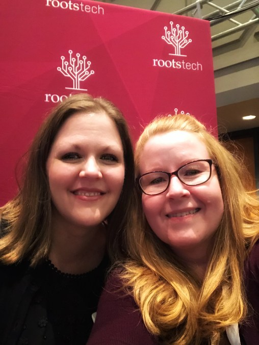Amberly and Sue McNelly after the RootsTech media dinner