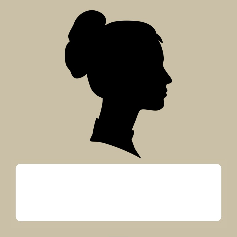 Silhouette blank female tan