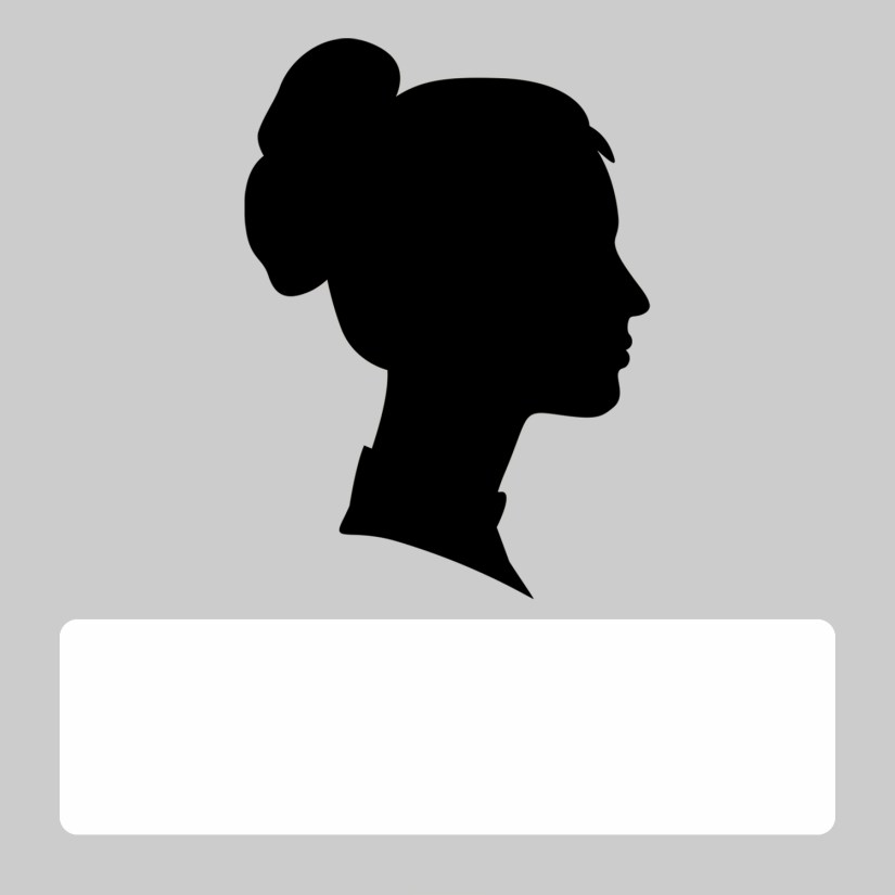silhouette blank female gray