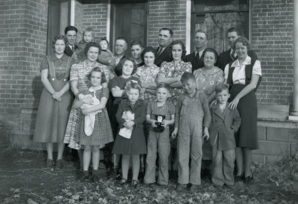 SKEEN, Joseph & Petrina descendants at Christmas, possibly 1938