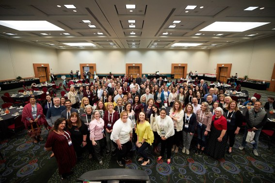 This photo of the RootsTech speakers was taken at the Speaker Social on Tuesday afternoon.