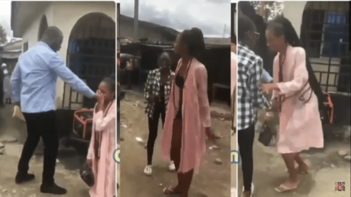 Ugly Moment Pastor Disgraces Lady For Wearing Indecent Clothes In Public [VIDEO]