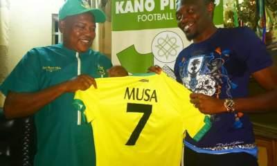 HAPPENING NOW!!! Kano Pillars Finally Unveil Ahmed Musa [PHOTO]