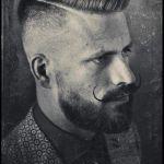 barba hipster baffi arricciati