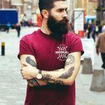 barba lunga da hipster bella