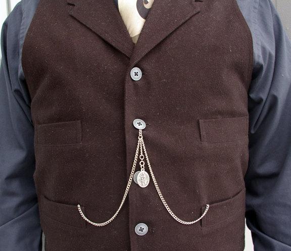 catenelle argento orologio da tasca uomo