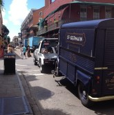 Tow up! St. Germain mobile headed to Casa Bacardi.