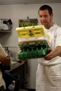 Thomas and his farm eggs.