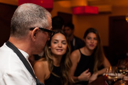 Michael greets guests at Road to Table (credit: Green Sky Creative)