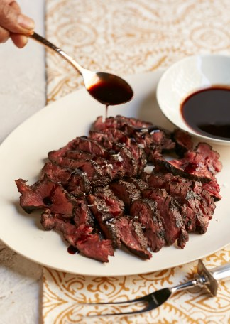 156_Grilled Hanger Steak with Red Wine Sauce
