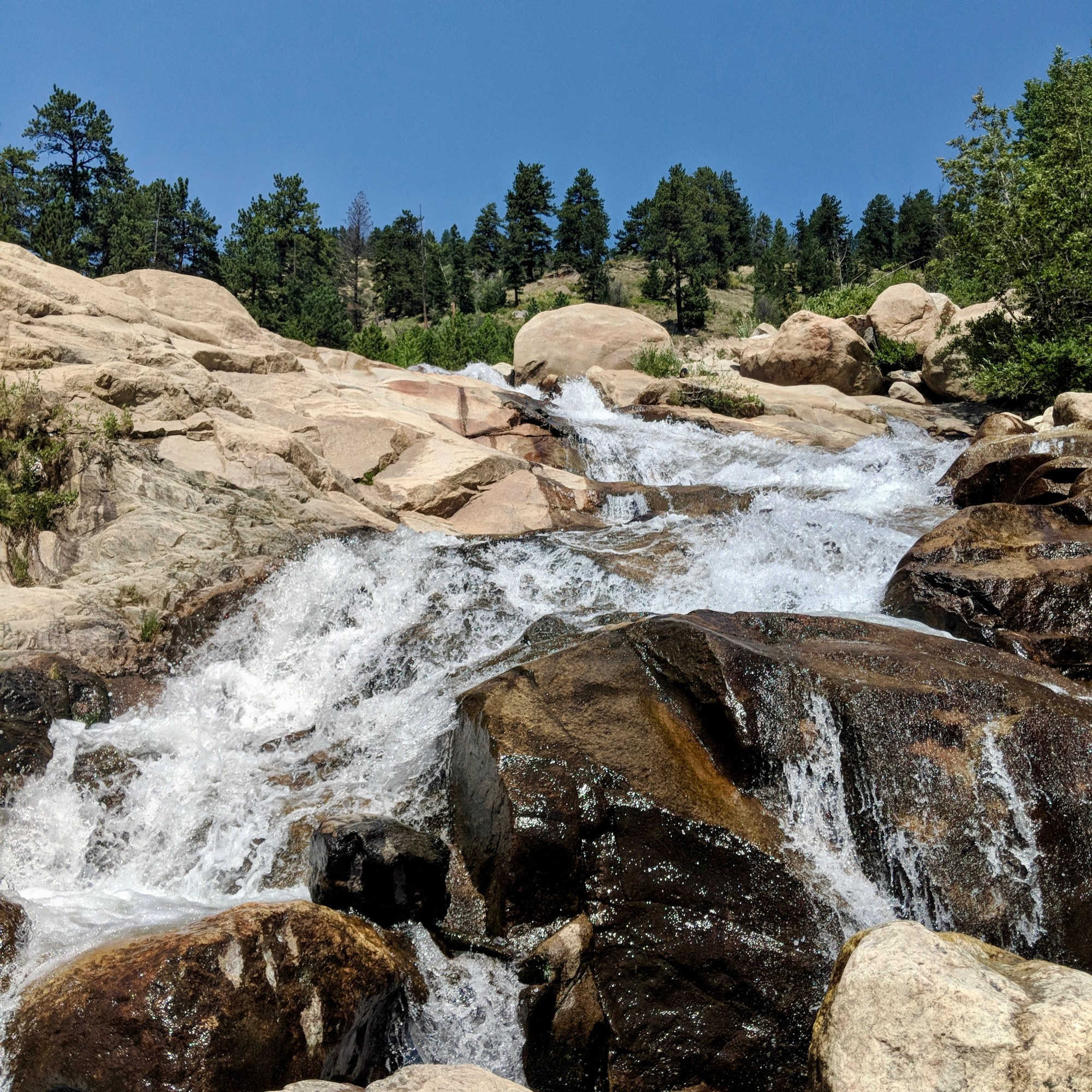 Water Fall in Rocky Mountain National Park