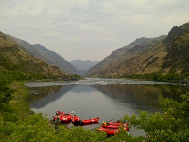 Rafts on the Snake River
