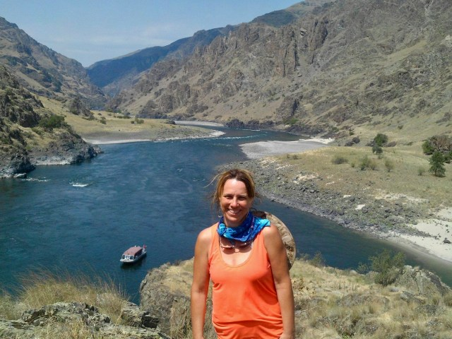 Confluence of Snake and Salmon River in Hell Canyon