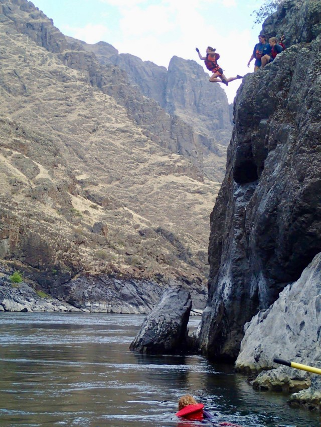 Jump into Snake River