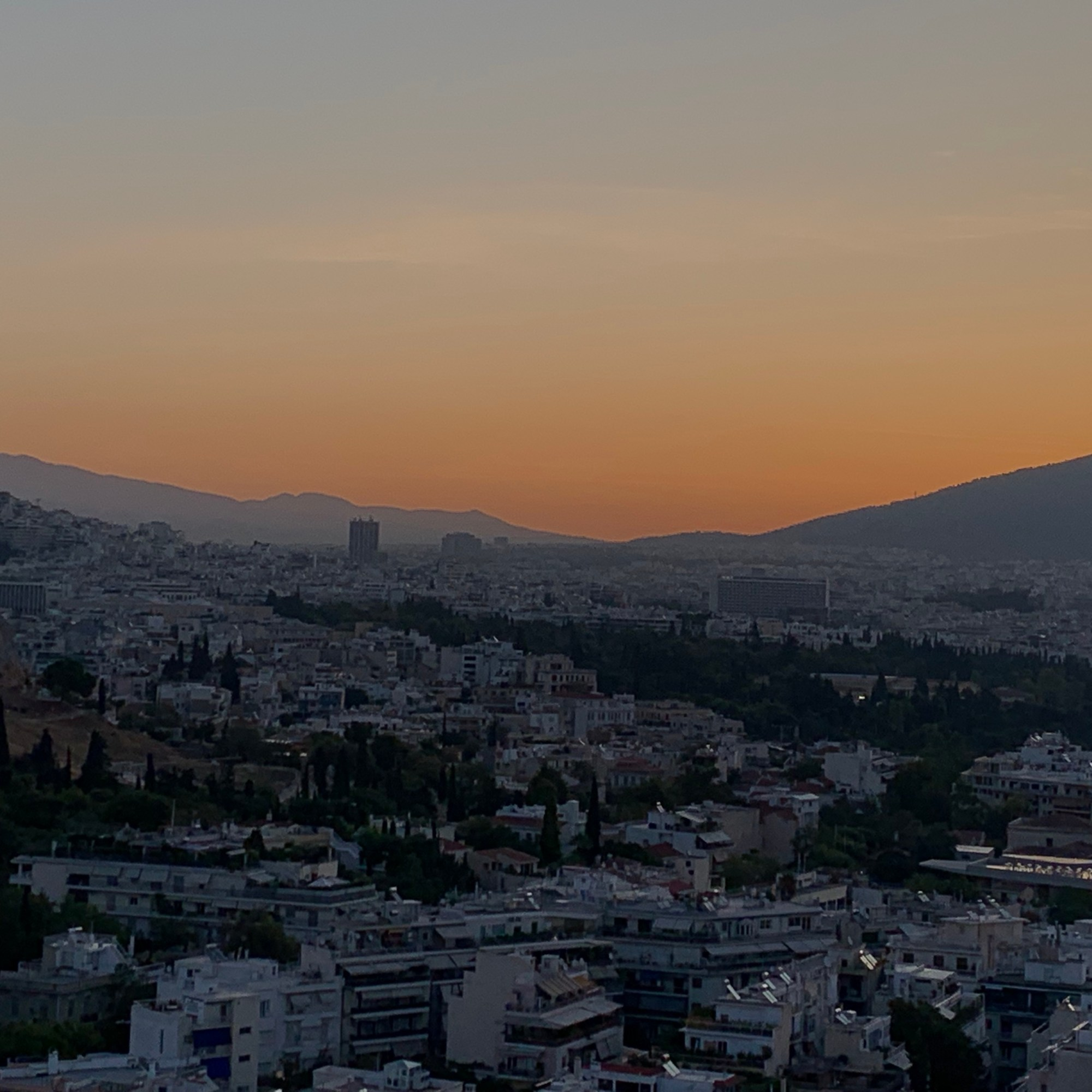 Philopappos Hill Athens sunrise
