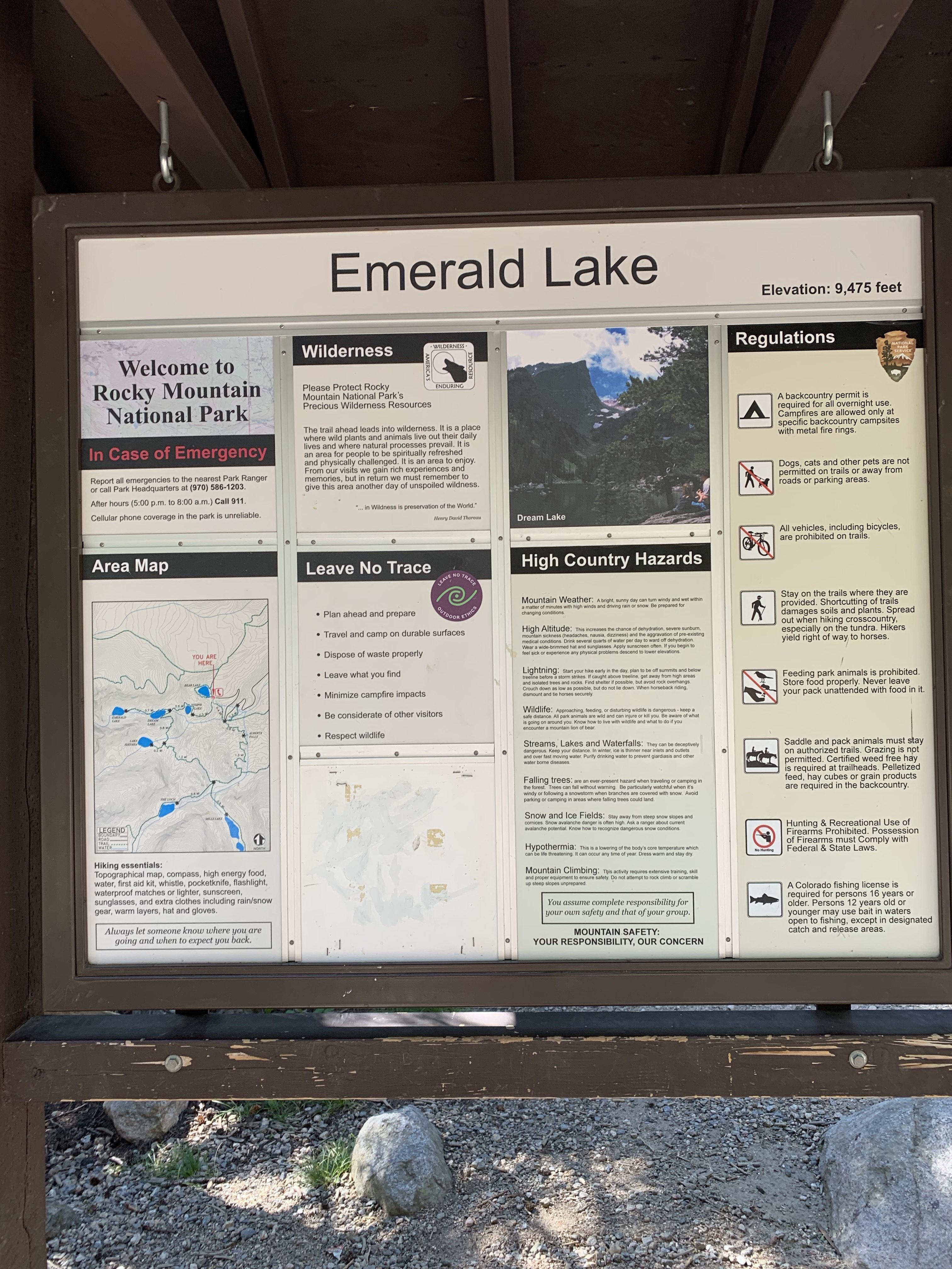 Trail Statistics Emerald Lake