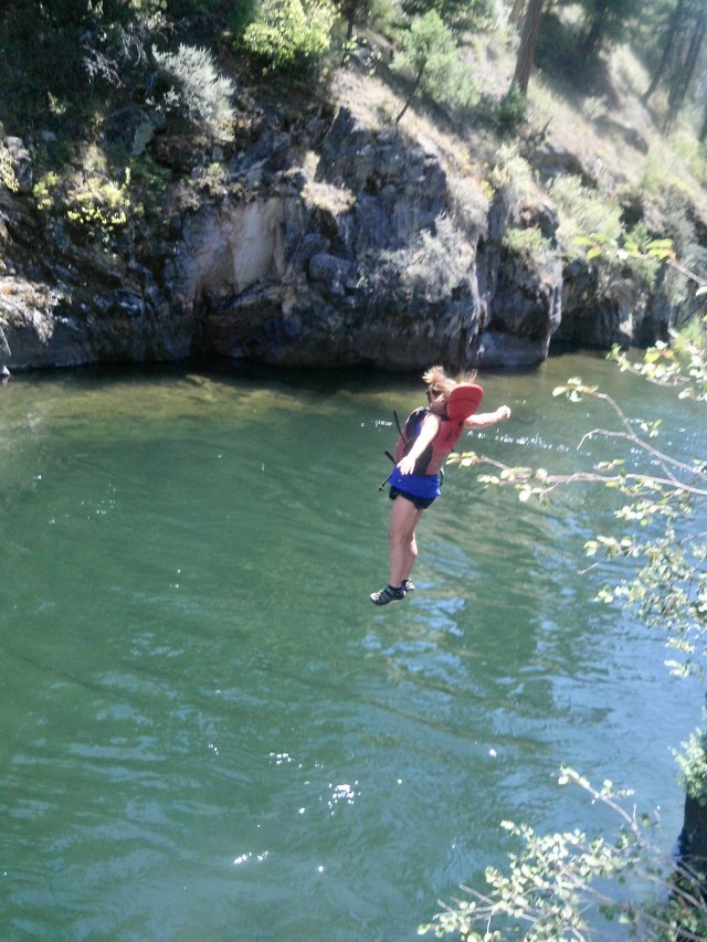jumping in the middle Fork