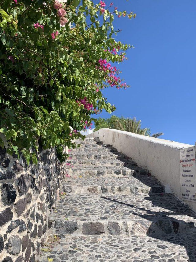 Along the Caldera Santorini Greece