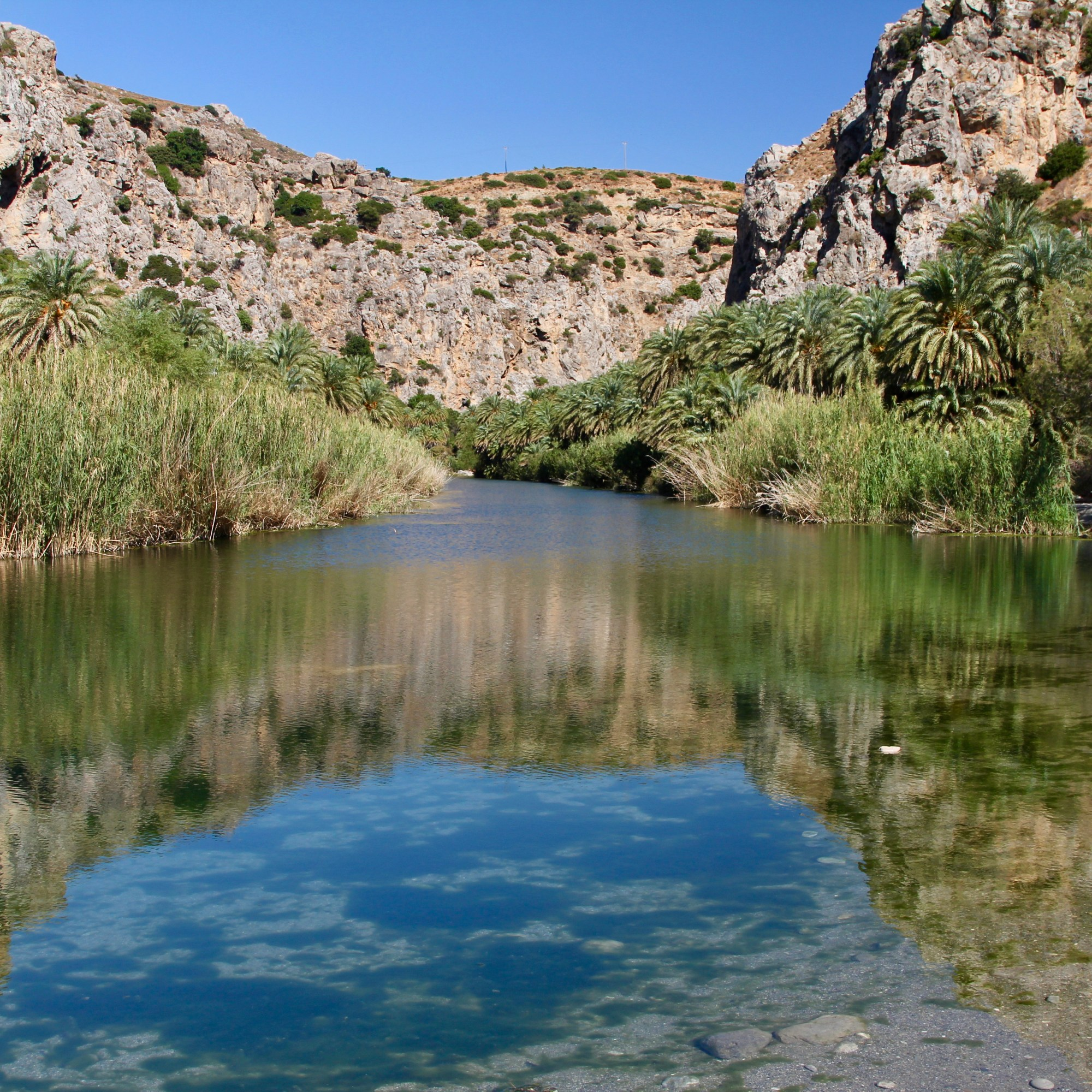 River at Preveli Beach