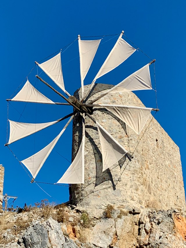 Windmills of Lasithi in Crete Greece