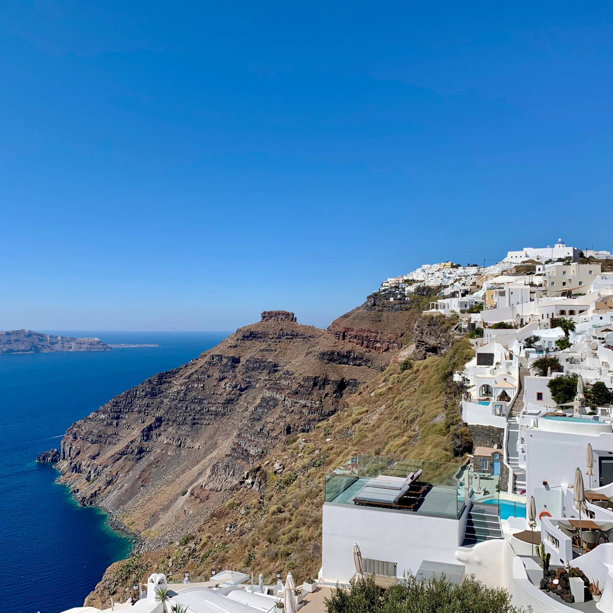 View from hike from Imerovigli to Fira